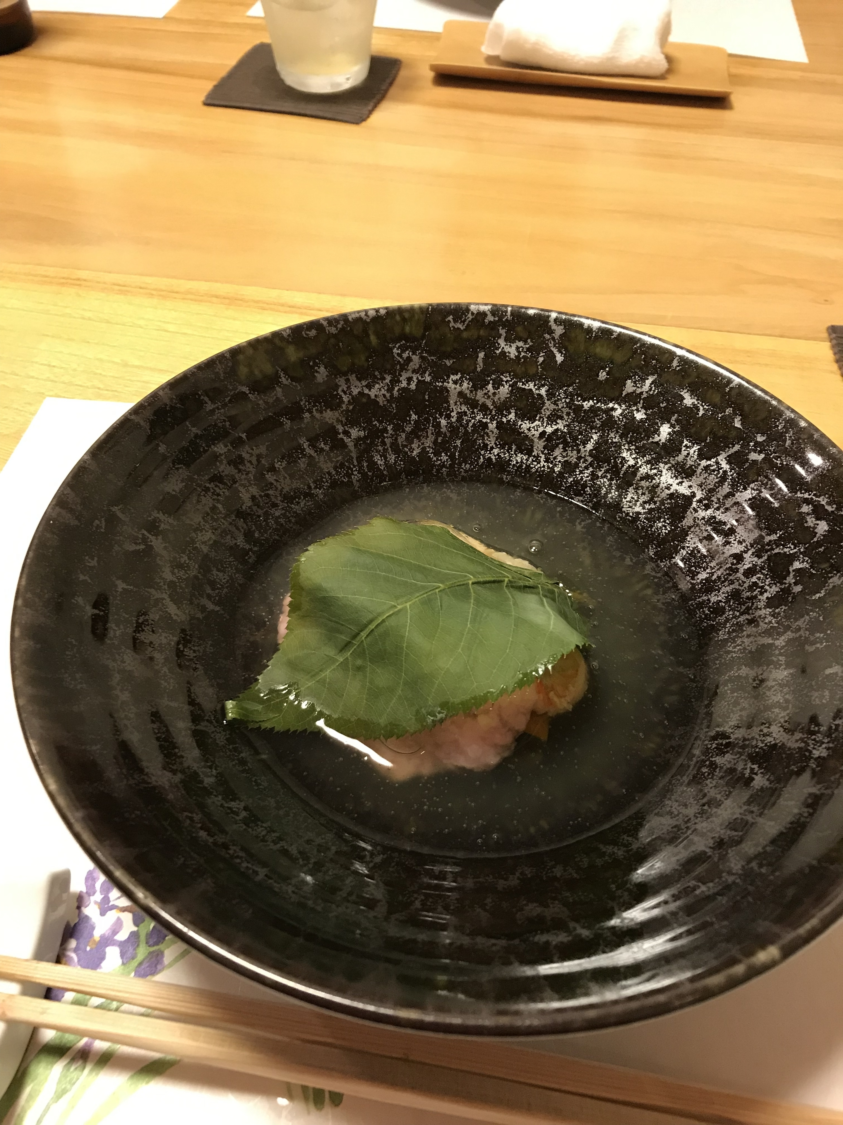 桜餅のあんかけ
